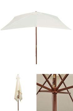 White Rectangular Parasol Outdoor Porch Yard Deck Umbrella Shelter Canopy Shade for sale online Deck Umbrella, Canopies, Shelter, Gazebo, Porch, Yard, Shades, Patio, Outdoor Decor
