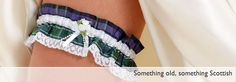 Wedding Rings Made-in Scotland | Tartan Wedding Garters made in Scotland
