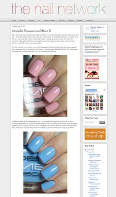 the nail network features Dermelect Persuasive and Above It!
