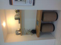 Floating timber desk for study nook