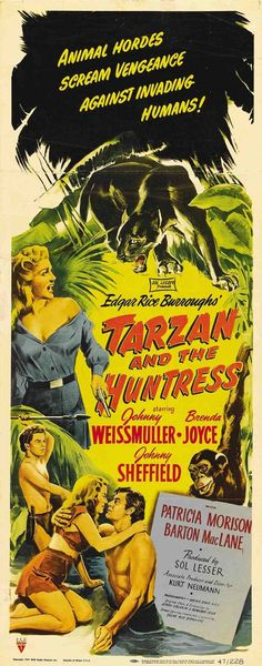 Tarzan Movies with Johnny Weissmuller | Tarzan and the Huntress Insert Style