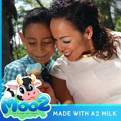 Here are the benefits of Moo2 Ice Cream and Yogurt made with A2 Milk:  - If you've tummy problems or dairy problems, this milk is for you. - It's a terrific alternative to the processed products out in the marketplace. - You can still have your ice cream and yogurt but healthier - You will still receive the essential quantity of potassium, calcium, and protein.  #A2 #a2Milk #Milk #IceCream #Yogurt #Dessert