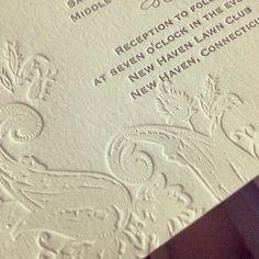 #letterpress #blindimpression always gets our hearts racing!! #weddinginvitations