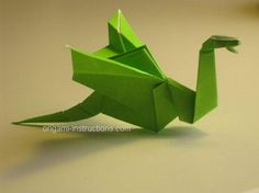 origami dragon, step-by-step pictures and instructions Diy Origami, Origami Mobile, How To Make Origami, Useful Origami, Origami Tutorial, Origami Paper, Diy Tutorial, Simple Origami, Origami Flapping Bird