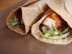 Skinny Bovine's Kitchen: Thai peanut chicken wraps