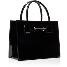 Patent Mini Tote | Moda Operandi (€1.461) ❤ liked on Polyvore featuring bags, handbags, tote bags, patent purse, tote bag purse, patent tote, mini tote bags and patent leather tote bag