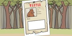 The Gruffalo Wanted Poster Writing Frames - gruffalo, story books