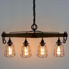 Rustic Industrial Yoke Chandelier, Modern Industrial Lighting, Four Light by UrbanAnalog on Etsy https://www.etsy.com/listing/286356441/rustic-industrial-yoke-chandelier-modern