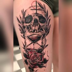 Best Hourglass Tattoo Designs and Meanings - Time is Flying Best Sleeve Tattoos, Body Art Tattoos, New Tattoos, Tribal Tattoos, Tattoos For Guys, Tattoos For Women, Cool Tattoos, Tattoo Designs And Meanings, Tattoos With Meaning