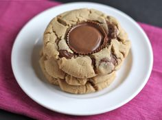 Reese's Peanut Butter Cup Cookies. Like I always say, you can stick a Reese's cup in anything and it'll be good, but these look amazing.
