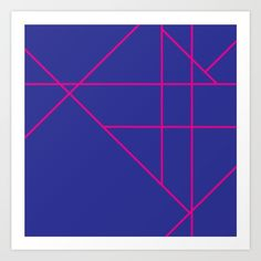 Blue and Pink Art Print by mosaicpen Pink Art, Or, Fine Art Prints, Blue, Rose Art, Art Prints