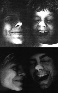 """photocopied faces """"then and now""""! adorable!"""