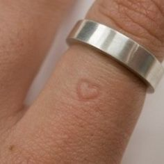 The longer you wear the ring the more permanent the heart gets