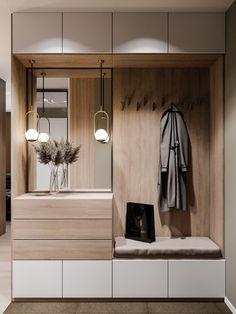 Дизайн-проект от IconInteriors.ru Entrance Hall Furniture, Home Entrance Decor, Hallway Ideas Entrance Narrow, House Entrance, Modern Hallway, Home Decor, Flur Design, Hall Design, Home Room Design