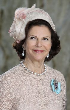 Queen Silvia of Sweden arrive for the christening of Princess Estelle of Sweden in the chapel at the Royal Palace on May 22, 2012 in Stockholm