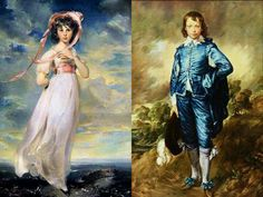 Pinky and Blue Boy. How many know these were painted by two different artists, about a hundred years apart?
