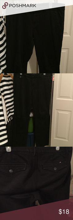 Tommy Hilfiger black trouser jeans. Black trouser jeans. Excellent condition!! Tommy Hilfiger Jeans