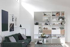 C: BoConcept Carlton sofa and Copenhagen wall system Boconcept, Deco Furniture, Online Furniture, Furniture Design, Shelving Design, Furniture Collection, Home Decor Inspiration, Interior Design Living Room, Living Spaces