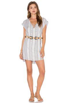 LANSTON LACE UP MINI DRESS. #lanston #cloth #dress #top #shirt #pant #coat #jecket #jacket #shorts #ski
