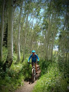 Riding the aspen trails of @deer Valley Resort with @Denise H. H. Fuller Mountain Bicycling Association USA. Photo: @Brooke Williams Baird Baird Gaynes