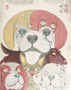 """Dedicated to Arcimboldo"" series / Dogs by Tsuruya Kokei   〈アルチンボルドに捧ぐ五題〉の内 犬 弦屋光溪"