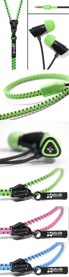 Zipbuds Tangle-Free Zippered Headphones
