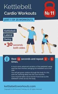Kettlebell cardio workout for the more advanced kettlebell practitioner. Discover 25 kettlebell cardio workouts that will change the way you look and feel. Includes workouts for beginners and those that cannot kettlebell swing. Fitness Workouts, Best Kettlebell Exercises, Kettlebell Cardio, Kettlebell Swings, Fitness Tips, Cardio Workouts, Kettlebell Challenge, Fitness Plan, Tabata