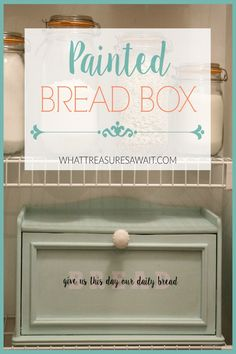 Transform a thrift store bread box with paint and vinyl