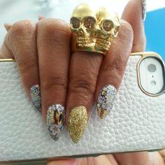 Taraji P. Henson's Minx nails by Lisa Logan
