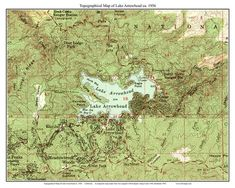 Lake Arrowhead 1956 Old Topographic Map USGS Custom Composite Reprint California Lakes In California, California Map, Canon Ink, Ship Map, Lake Arrowhead, Topographic Map, Monterey County, Wall Maps, Us Map