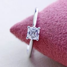 Our beautiful Ascher cut engagement ring