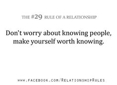 The #29 Rule of a Relationship