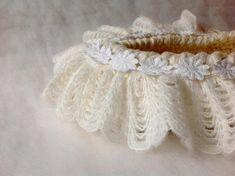 Precious baby basket White Newborn nest by nerina52 Photo prop