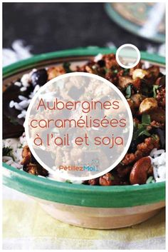 Recette healthy : Aubergines caramélisées à l-ail et au soja Clean Eating Dinner, Clean Eating Recipes, Easy Healthy Recipes, Dinner Healthy, Vegetarian Breakfast Recipes Indian, Vegetarian Recipes, Food Blogs, Wine Recipes, Food And Drink