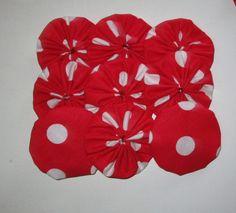 9  Bright Polka Dot Red & White Valentine's by YoyosAndMoreByJill