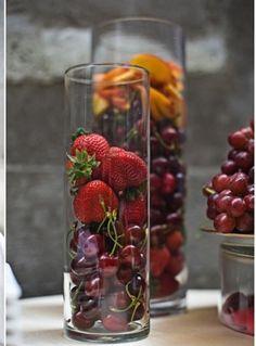 fruit as centerpieces