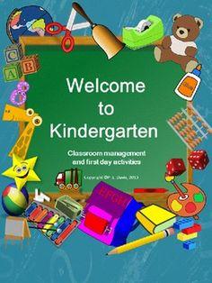 Welcome to Kindergarten/ Pre-K Package