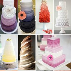 Ombre wedding cake ideas