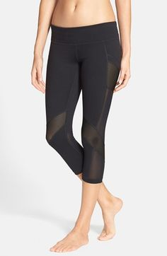 Zella 'Luminous' Mesh Inset Capris available at #Nordstrom
