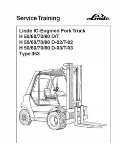 This Linde Type 353 Forklift Truck: Repair Service Training Manual contains detailed repair instructions and maintenance specifications to facilitate your repair and troubleshooting. Manual, Training, Type, Projects, Coaching, Fitness Workouts, Work Outs, Education, Exercise