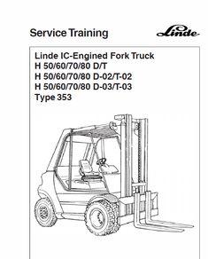 Linde Type 351 LPG Forklift Truck: H20, H25, H30, H35