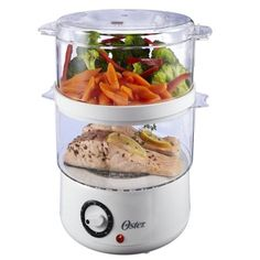 Oster CKSTSTMD5-W 5-Quart Double Tiered Food Steamer, White, New, Free Shipping, New Steamer Digital Basket Oster 5Quart 5711 5712 Shipping 2Tier 74 61Quart Healthy.., By