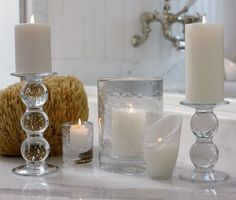 Love these bubble candlesticks.