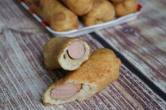 Virslis lángos Pretzel Bites, Sweet Potato, Sausage, Goodies, Food And Drink, Potatoes, Bread, Vegetables, Recipes