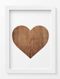 Rustic Wood, Heart Print, Heart printable, Home decor, INSTANT DOWNLOAD, Wall art, Printable art, Wall decor, Wedding gift, Woodland prints by saltstudioprints on Etsy