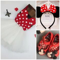 We LOVE this minnie mouse set for your baby girl! Perfect for that minnie lover, photos, or that special disney trip!