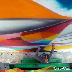#StreetsOfColour Miami 2014. Mural de Okuda y Remed.