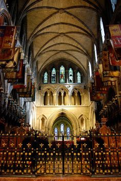 The Altar, Christ Church Cathedral in Dublin, IRELAND