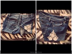 My favourite jeans I refashioned into shorts with lace detail. They turned out fab!