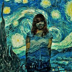projector photography, but with student's own work (seniors) OOOOH! I love this, with the windjammers? a self portrait board? School Photography, Photography Projects, Art Photography, Digital Photography, Photo Projects, Art Projects, Projector Photography, Vincent Van Gogh, Ap Studio Art